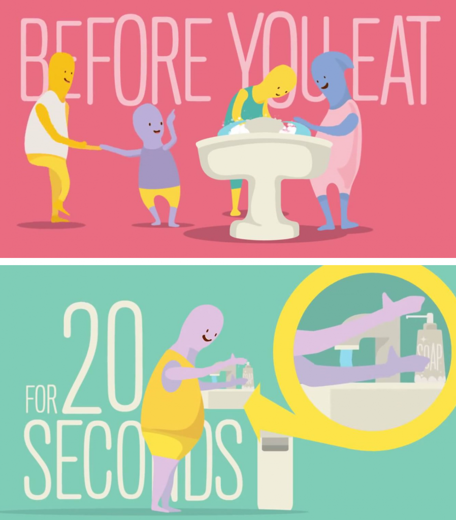 before you eat for 20 seconds