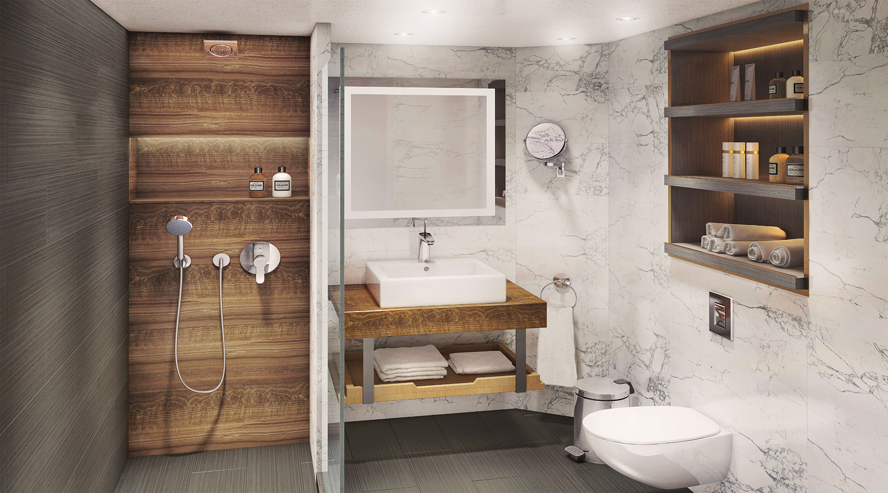 Spa Bathroom Suites Azamara Reimagined Cruisetotravel