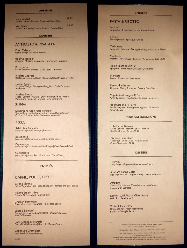 la cucina menu