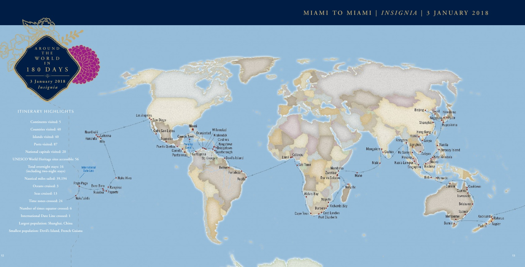oceania insignia around the world 180 days 2