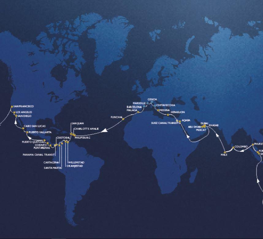 Around the world with msc cruises cruisetotravel for Around the world cruise
