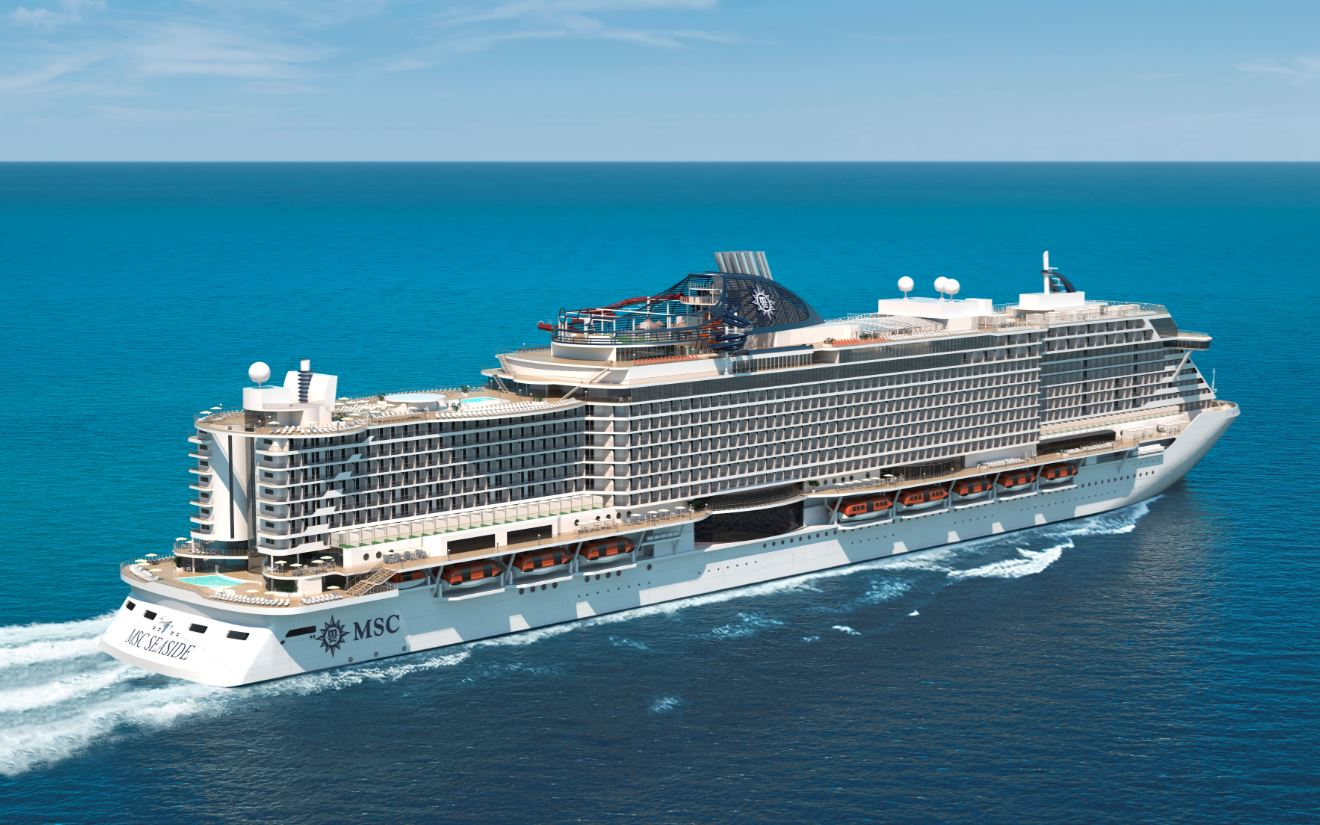 MSC Seaside Touches Water  CruiseToTravel