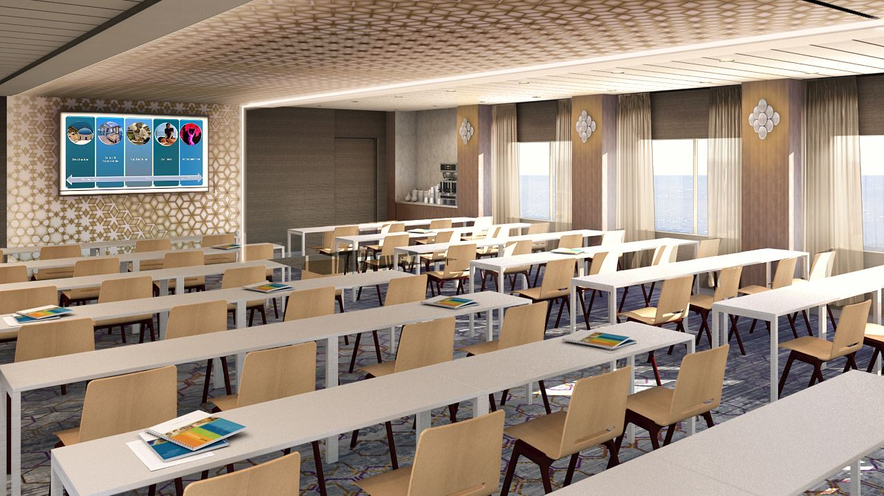 Classroom Layout With Tables ~ The meeting place reinventing cruise ship events onboard