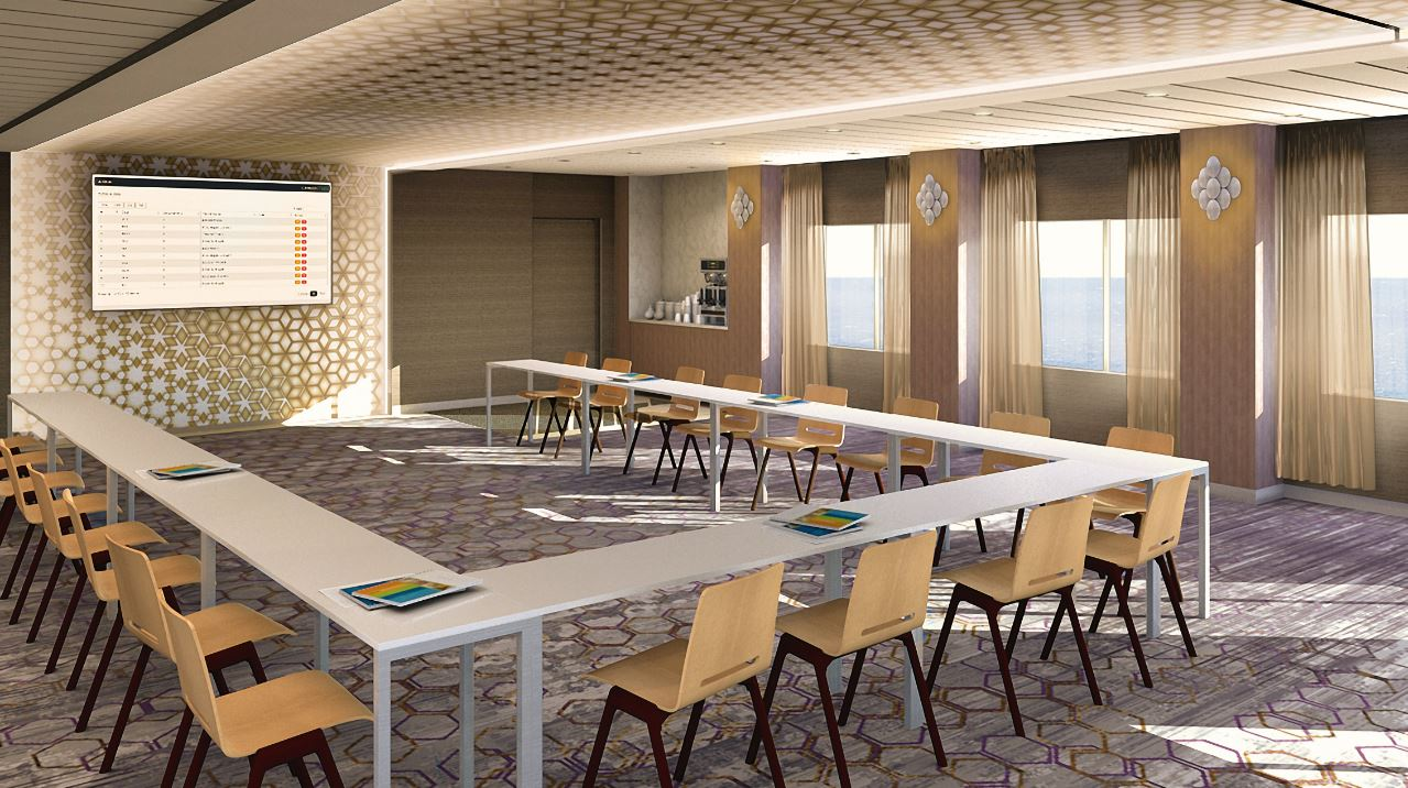 Modern Classroom Seating ~ The meeting place reinventing cruise ship events onboard