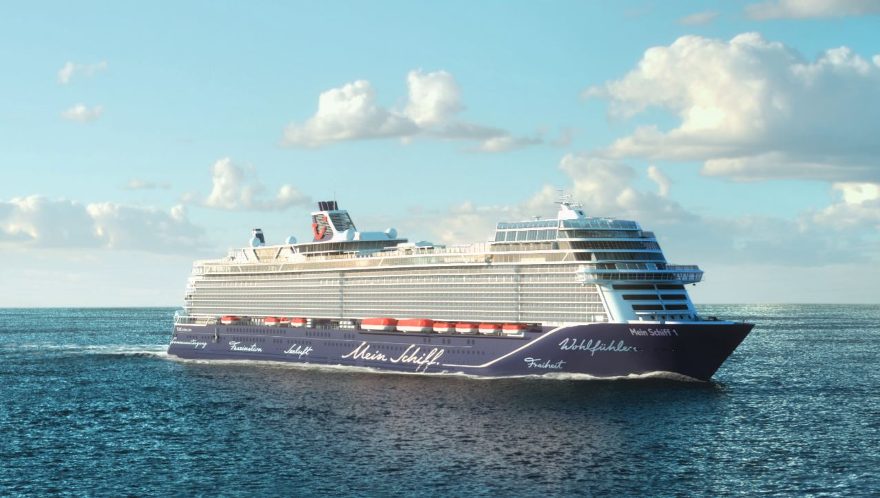The New Mein Schiff 1 Floats Out Cruisetotravel