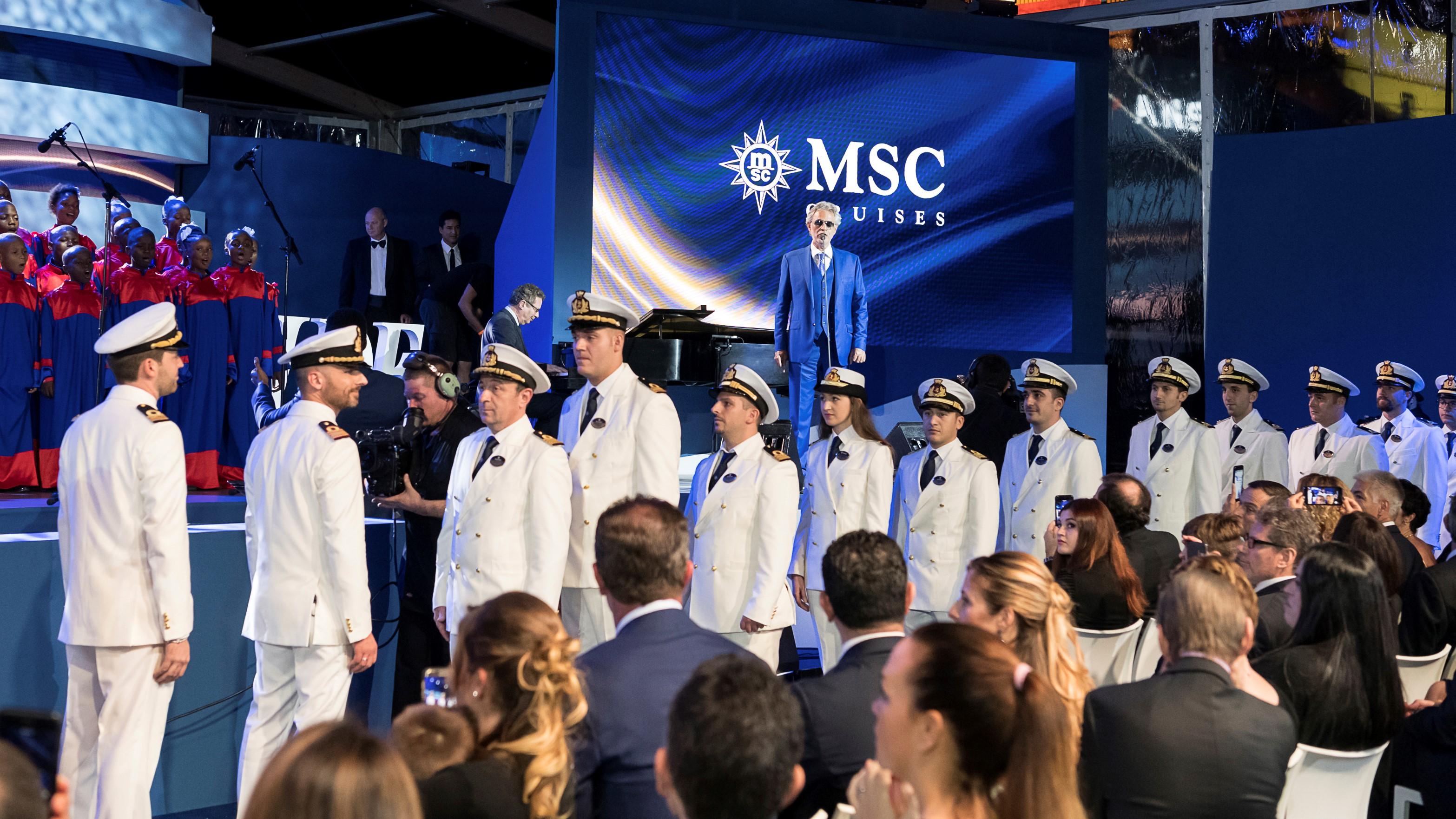 Andrea Bocelli joins star-studded line-up for MSC Bellissima
