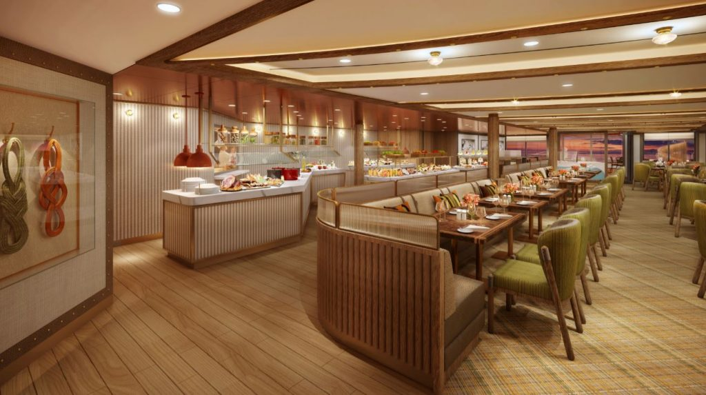 The Colonnade dining venue on Seabourn Venture