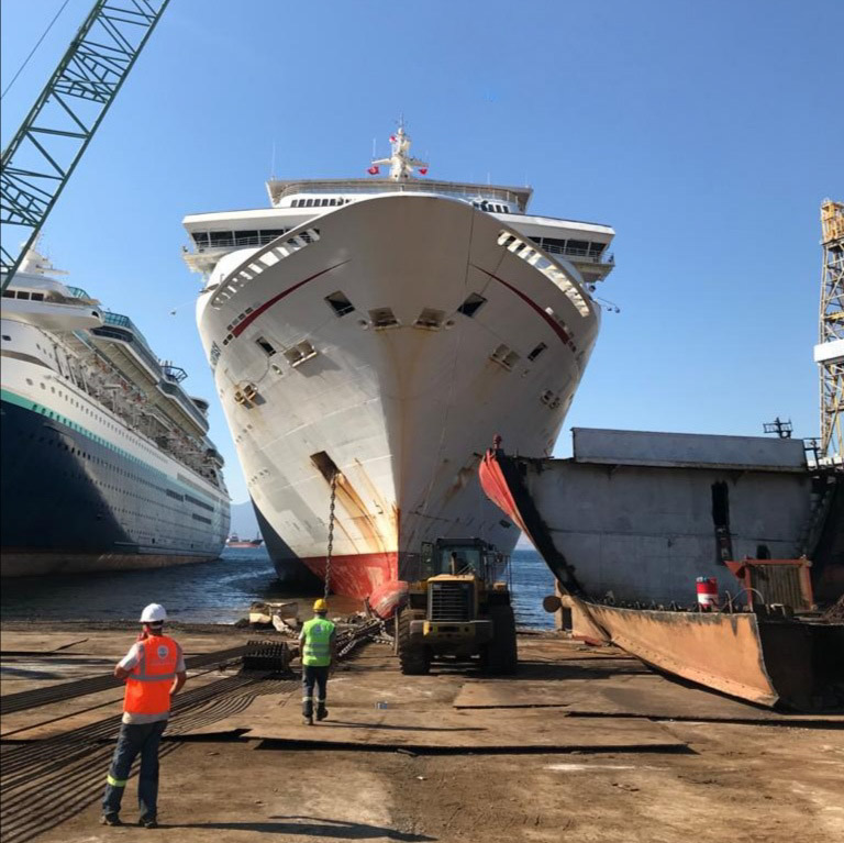 Carnival Corporation sends retired cruise ships to Turkey for responsible recycling