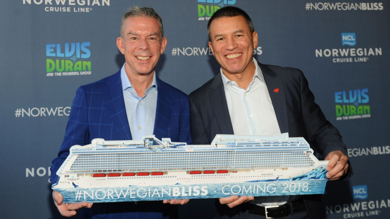 Norwegian Cruise Line Names Elvis Duran As Godfather For