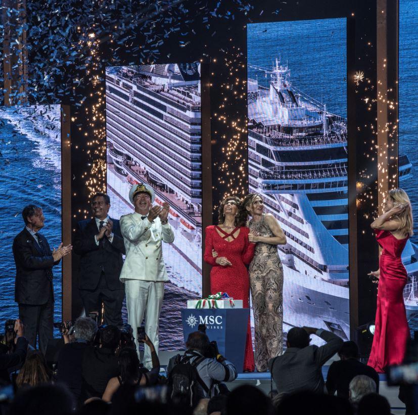 MSC Cruises names MSC Seaview in a glittering ceremony in ...